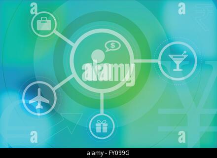 Geschäftliche Reisen und Reise Infografik Design-Vorlage Stockbild