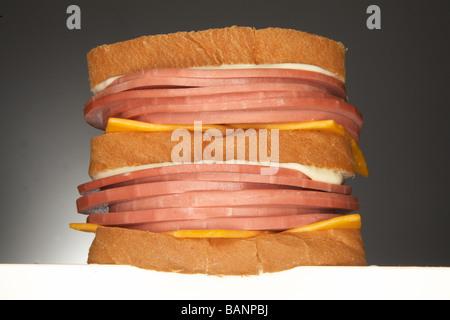 Balogna Sandwich Stockbild