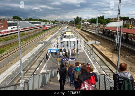 Deutschland, Berlin, Bahnhof Warschauer Straße Stockbild