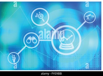 Anschauliches Bild, darstellt, Geschäftsprognosen Stockbild