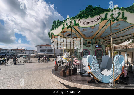 Carusel, Ile de Re, Nouvelle - Aquitaine, Französisch westcoast, Frankreich, Stockbild