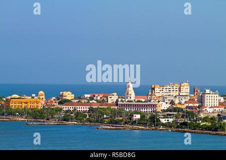 Kolumbien, Bolivar, Cartagena De Indias, die alte Stadtmauer Stockbild