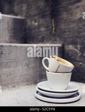 Leere Kaffeetassen Stockbild
