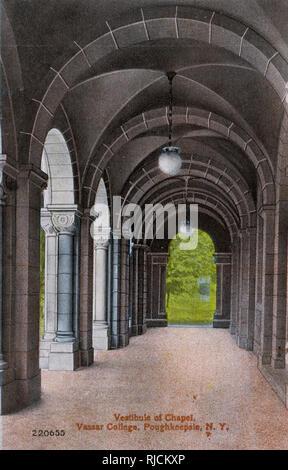Vorraum der Kapelle, Vassar College, Poughkeepsie, New York State, USA. Stockbild
