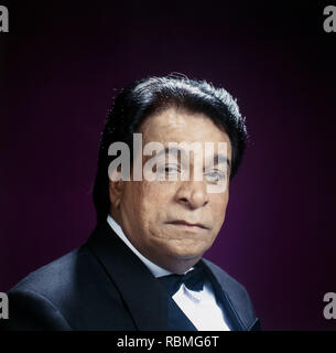 Portrait von Kader Khan, Indien, Asien Stockbild