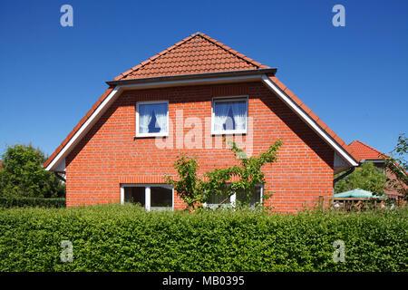 Wohnhaus, Einfamilienhaus, Wohnbau, Malente, Schleswig-Holstein, Deutschland, Europa Stockbild