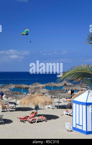 Kanarischen Inseln, Teneriffa, Costa Adeje, Playa del Duque (Duque Strand) Stockbild