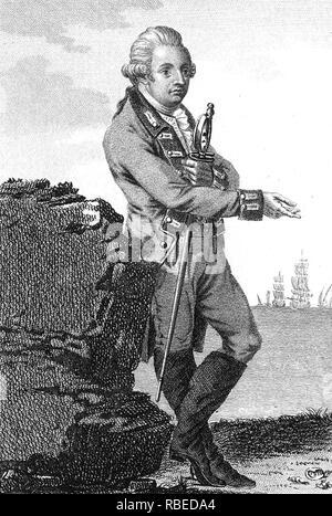 CHARLES CORNWALLIS, 1 ST Marquess Cornwallis (1738-1805), Oberbefehlshaber der britischen Armee während des Amerikanischen Unabhängigkeitskrieges Stockbild