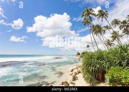 Koggala Beach, Sri Lanka, Asien - frei fühlen, während Sie sich an der schönen Landschaft von Koggala Stockbild