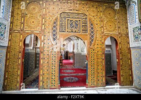 Mausoleum Moulay Hassan II, Fes, Marokko Stockbild