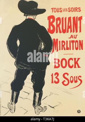 Bruant au Mirliton, 1893. Private Sammlung. Stockbild