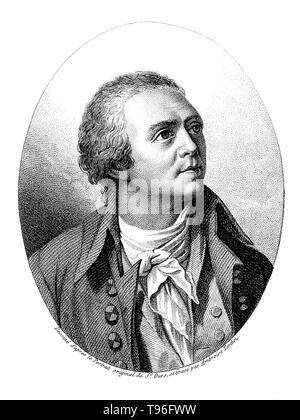 Horace-Bénédict de Saussure (Februar 17, 1740 - Januar 22, 1799) war ein Genfer Geologen, Meteorologe, Physiker, Bergsteiger und Alpin Explorer, der oft auch als Gründer des Alpinismus und des modernen Meteorologie. Er untersucht die Neigung der Schichten, der Art der Gesteine, Fossilien und Mineralien der Alpen. Stockbild