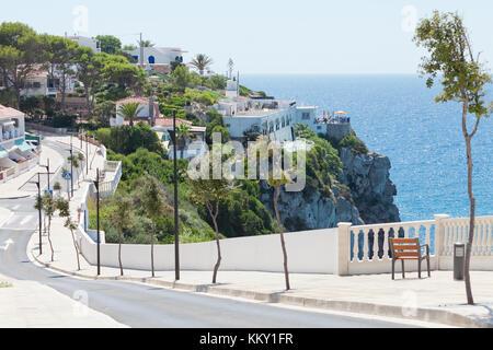 Küste von Cala en Porter - Menorca - Balearen Stockbild