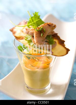 Erbsen-Creme Suppe Stockbild