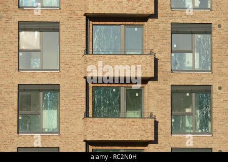 Wohnhaus in der Bremer Überseestadt, Baustelle, Shell, Bremen, Deutschland, Europa ich Wohngebäude in der Bremer Überseestadt, Baustelle, Stockbild