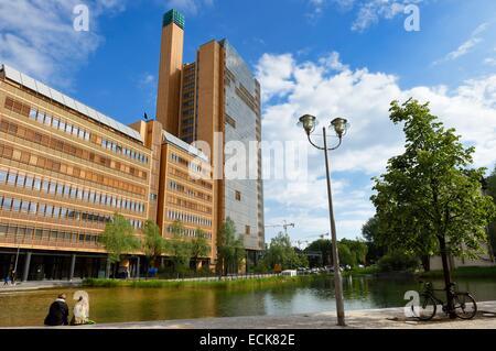 Deutschland, Berlin, Marlene-Dietrich-Platz, Debis-Gebäude von Renzo Piano Stockbild