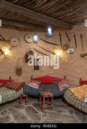 Dekoration in al baitul Jabali Haus, Jizan Provinz Jizan, Saudi-Arabien Stockbild
