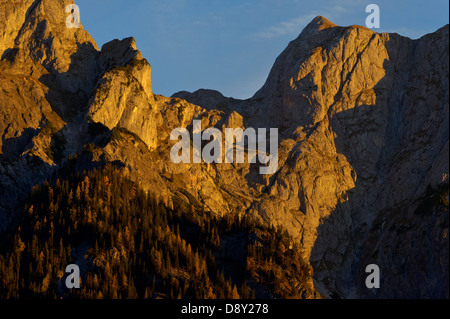 Österreich/Salzburg - morning glory im Naturschutzgebiet Kalkhochalpen. Stockbild