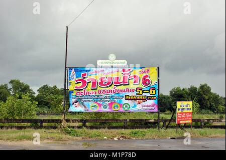 Werbung mit Reklametafeln Thailand Stockbild