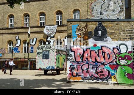 Deutschland, Berlin, Bezirk Kreuzberg, Kunstraum Kreuzberg-Bethanien in einem ehemaligen Krankenhaus Stockbild