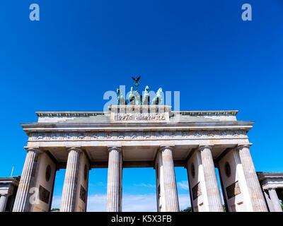 Das Brandenburger Tor in Berlin Deutschland Stockbild