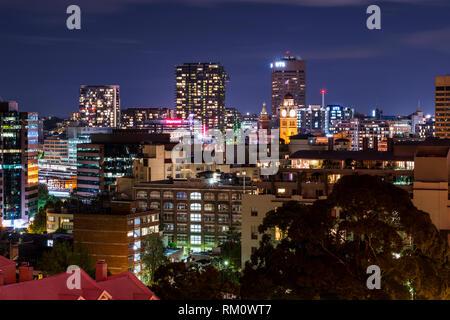 Sydney nacht Architektur. Stockbild