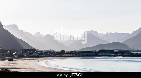 Dorf an der Küste Stockbild