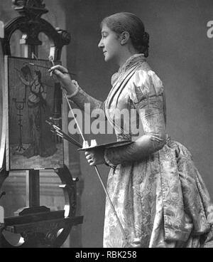 MADGE KENDAL (1848-1935) Englische Theaterschauspielerin Stockbild