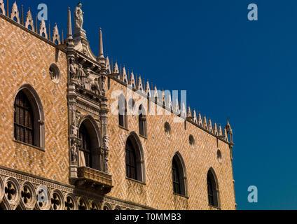 Der Dogenpalast, Region Veneto, Venedig, Italien Stockbild