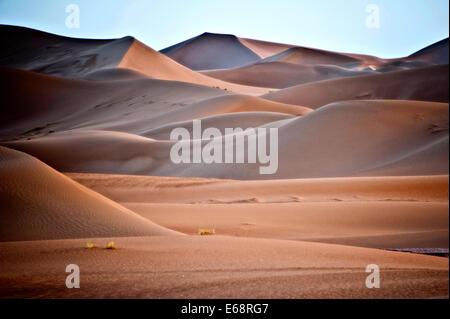 Sanddünen, Sahara Wüste; Marokko Stockbild