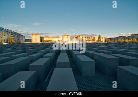 Denkmal für die ermordeten Juden Europas (Holocaust-Mahnmal) in Berlin, Deutschland Stockbild