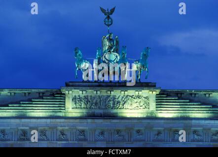 Europa, Deutschland, Berlin, die Quadriga des Brandenburger Tors.  Europa, Deutschland, Berlin, sterben Quadriga Stockbild