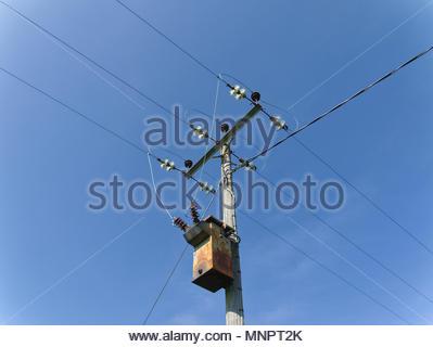 Stromversorgungsnetz Kabel Stockbild