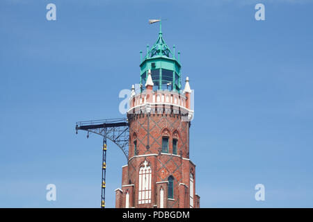 Simon-Loschen-Leuchtturrm, Bremerhaven, Bremen, Deutschland, Europa ich Simon-Loschen-Leuchtturrm, Bremerhaven, Bremen, Deutschland, Europa i Stockbild