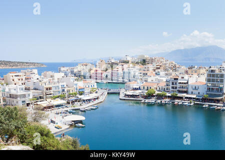 Kreta - Griechenland - Hafen von Agios Nikolaos, Europa Stockbild
