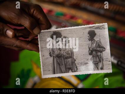 Altes Bild von Patrioten aus der Italo-äthiopischen Krieg, Addis Abeba region, Addis Abeba, Äthiopien Stockbild