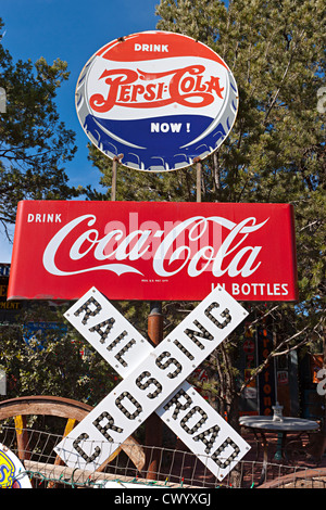 Sedona Arizona USA unterzeichnet Stockbild
