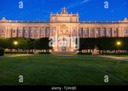 Parlament von Schweden in Stockholm. Und Sodermanland Stockholm, Uppland, Schweden. Stockbild