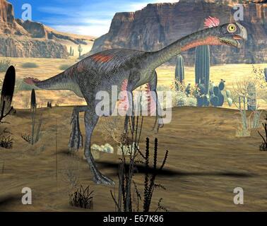 Dinosaurier Gigantoraptor / Dinosaurier Gigantoraptor Stockbild