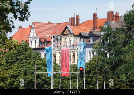 Alte Wohnhäuser an Weisse Kreuz Platz Ecke Lister Meile, Hannover, Niedersachsen, Deutschland, Europa ich alte Wohnhäuser bin Weisse-Kreuz-Plat Stockbild