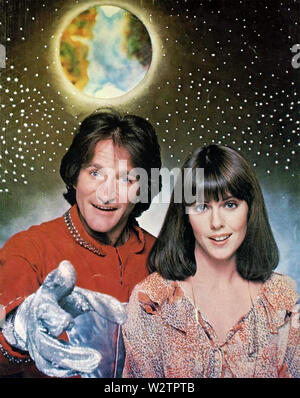 MORK UND MINDY Paramount Fernsehen sitcom 1978-1982 mit Pam Dawber und Robin Williams Stockbild