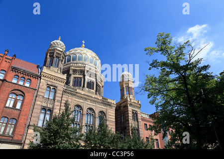 Deutschland, Berlin, Oranienburger Str., Neue Synagoge Stockbild
