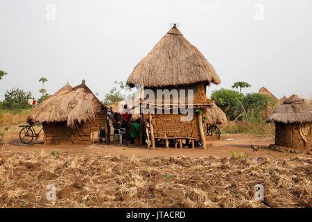 Ugandischen Dorf, Uganda, Afrika Stockbild