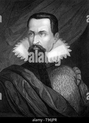 Johannes Kepler (Dezember 27, 1571 - November 15, 1630) war ein deutscher Mathematiker, Astronom und Astrologe. Eine zentrale Figur in der wissenschaftlichen Revolution des 17. Jahrhunderts, er ist am besten für seine Werke Astronomia Nova bekannt, Harmonices Mundi, und Epitome Astronomiae Copernicanae. Diese Werke auch eine der Grundlagen für Isaac Newtons Theorie der universellen Gravitation. Kepler entwickelt die drei grundlegenden Gesetze der Planetenbewegung. Stockbild
