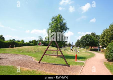 Spielplatz in Vilsen, Bruchhausen-Vilsen, Niedersachsen, Deutschland, Europa Stockbild