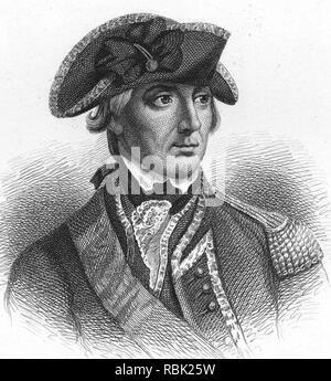 WILLIAM HOWE, 5. Viscount Howe (1729-1814), britischer Offizier in der Armee Stockbild