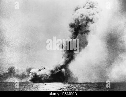 9 1916 5 31 A1 16 E Schlacht von Jütland 1916 Foto Weltkrieg 1914-18 1 Seeschlacht von Jütland Skagerrak Stockbild