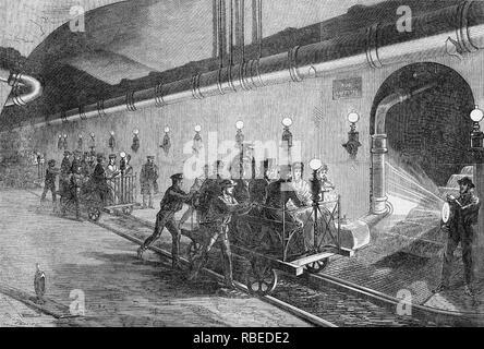 PARIS TOUR ca. 1890 Stockbild