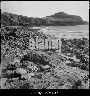 Cape Cornwall, Cornwall St. Just,, 1967-1970. Cape Cornwall gesehen von Porth Ledden Cove. Stockbild