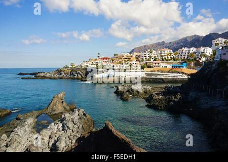 Puerto de Santiago, Teneriffa, Kanarische Inseln, Spanien, Atlantik, Europa Stockbild